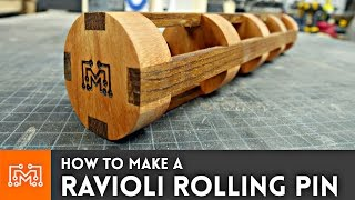 How to Make a Ravioli Rolling Pin // Woodworking