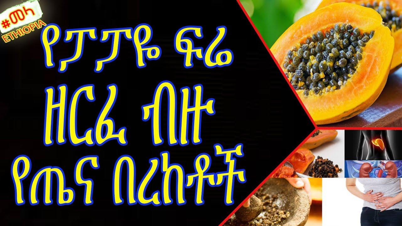 ETHIOPIA - Papaya Seed Health Benefits in Amharic