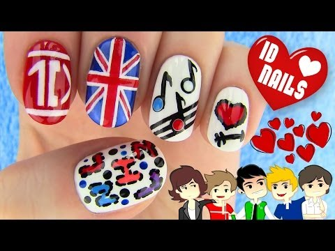 1d Nails - One Direction Nail Art video