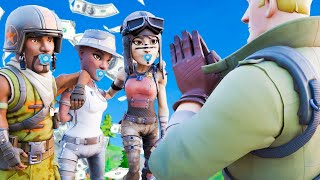 RICH 9 Year Olds Made Fun Of My NO SKIN, So I Asked Them To BUY My First Skin... (Fortnite)