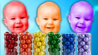 Learn colors with JOHNY JOHNY Yes Papa Song Nursery Rhymes & Color FACE