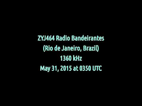 ZYJ464 Radio Bandeirantes (Rio de Janeiro, Brazil) - 1360 kHz