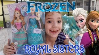 FROZEN Anna and Elsa Royal Sisters Dolls Opening and Review