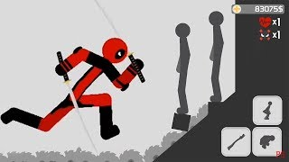 Stickman Backflip Killer 3 Part 47 Deadpool All Levels Completed / Android Gameplay HD