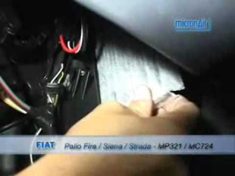 Troca de filtro de ar condicionado do Fire Siena - Strada