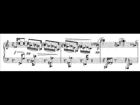 Schoenberg - Three Piano Pieces, No. 1 (with sheet music)
