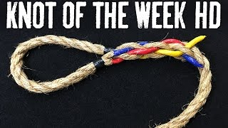 How to Eye Splice a Natural Fiber Rope - ITS Knot of the Week HD