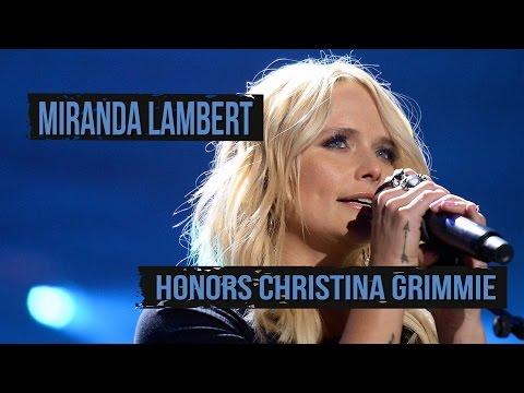 Miranda Lambert Pays Tribute to Christina Grimmie