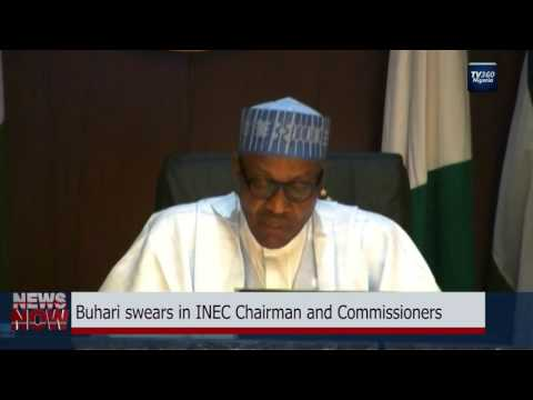 Buhari swears in INEC Chairman and Commissioners