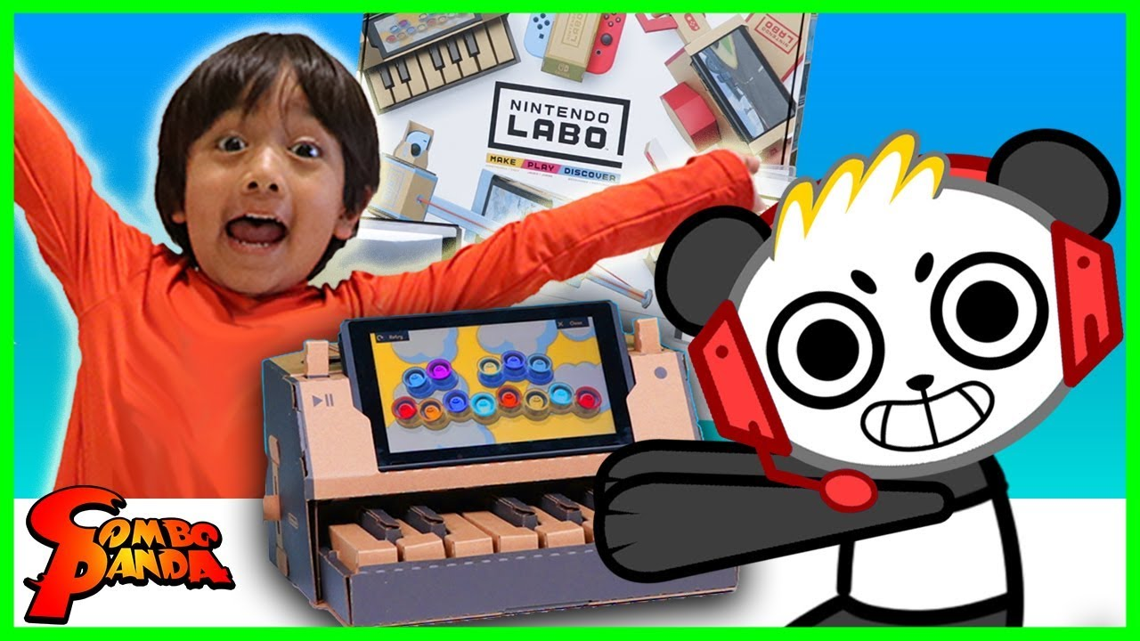 Nintendo Labo Piano Toy Cardboard Craft Let's Play with Combo Panda