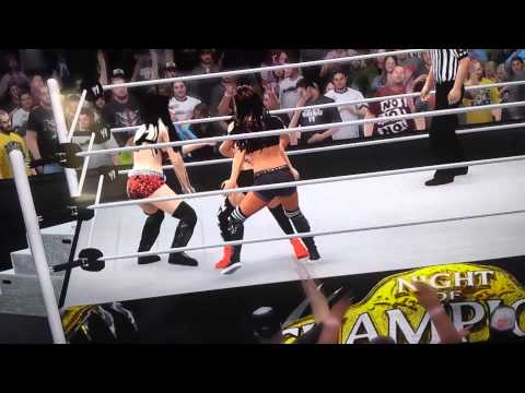 WWE NOC 2014 Paige vs Nikki Bella vs Aj Lee