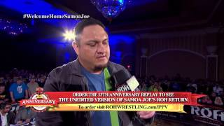 Download Samoa Joe's Ring of Honor Return from the 13th Anniversary Pay Per View 3Gp Mp4