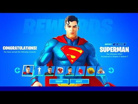 SUPERMAN SKIN GRATIS FREISCHALTEN (Aufträge & Lösungen in Fortnite Season 7)