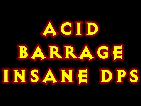 Diablo 3 Witch Doctor Build Acid Barrage! Insane DPS! 2.0.1