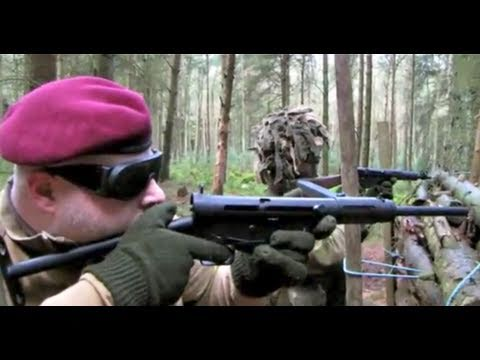 Airsoft War P90. G36C MP44. MP40 Thompson M1A1 POW Scotland