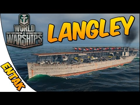 World of Warships Gameplay ➤ Langley Aircraft Carrier Gameplay - RTS Style Gameplay