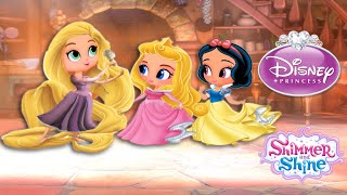 Shimmer and Shine Color Disney Episode Princess Aurora Rapunzel Snow White