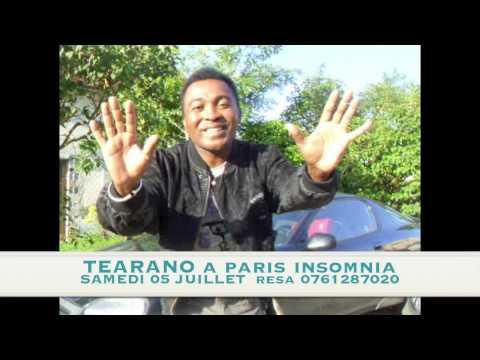 ANNONCE OFFICIELLE TEARANO à PARIS INSOMNIA SAM 05 JUILLET