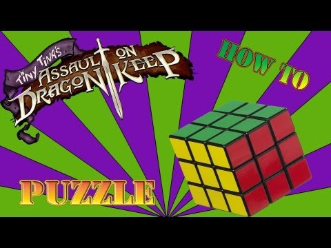 Borderlands 2: How To Solve Rubik's Cube Puzzle (Tiny Tina's Assault on Dragon Keep)
