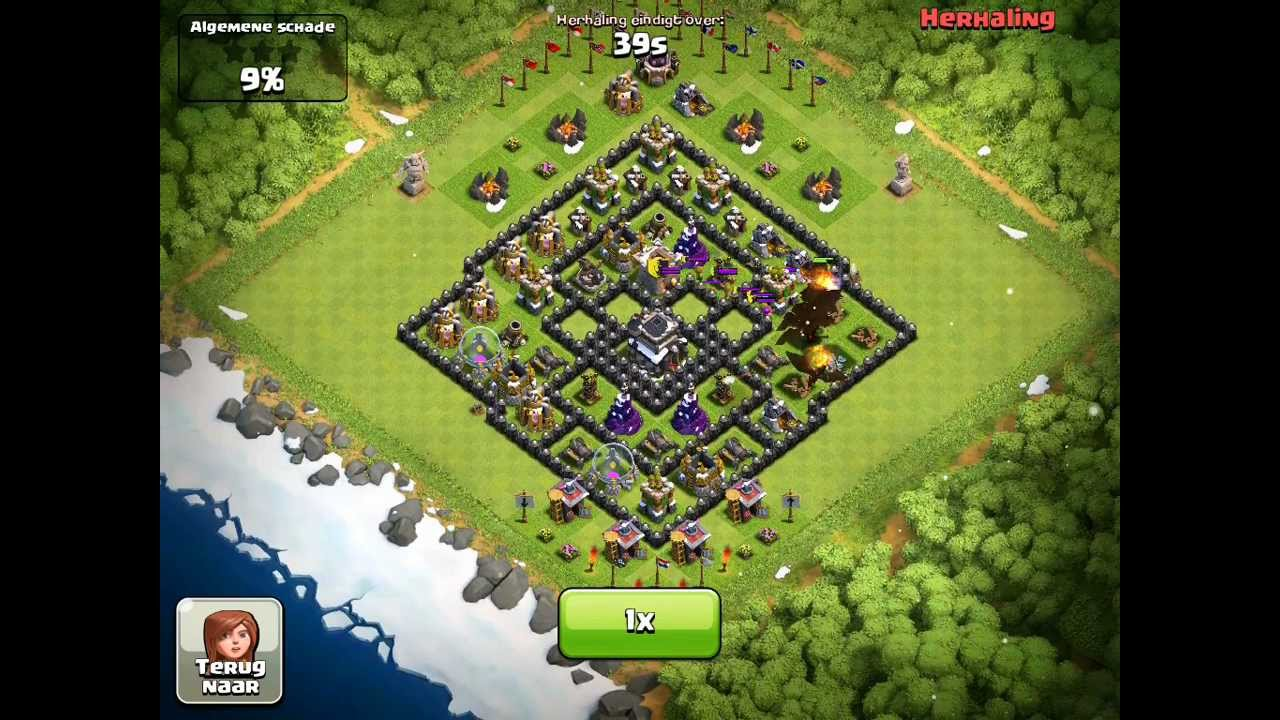 Clash of clans best defense for dragon and pekka s youtube