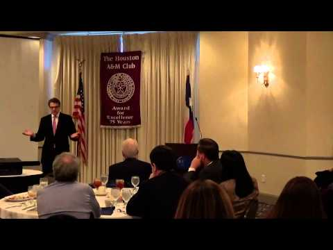 Governor Rick Perry '72, Texas Governor, 1/12/15, An Aggie Legacy