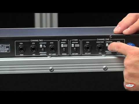 OSP X223 2-Way Stereo/3-Way Mono Crossover