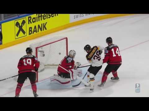 чм по хоккею 2017 Канада Германия 1\4