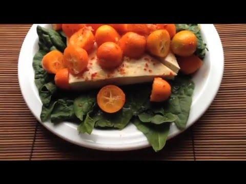 Tofu Kumquat Fruit Diet Salad -- or Desert