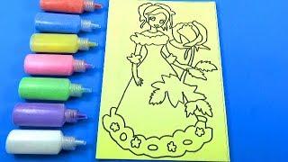 Đồ chơi trẻ em TÔ MÀU TRANH CÁT HÌNH CÔNG CHÚA TÓC VÀNG - Color Sand Paint