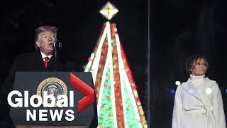 President Trump, First Lady Melania participate in Christmas Tree lighting ceremony