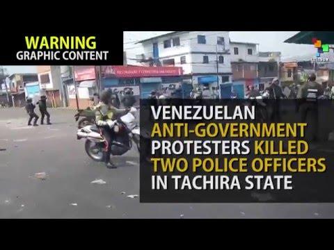 Venezuelan Officers Killed in Anti-Gov't Protests