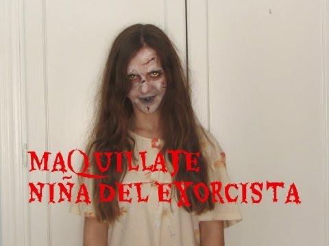 Maquillaje para Halloween/ La niña del exorcista- Halloween Makeup