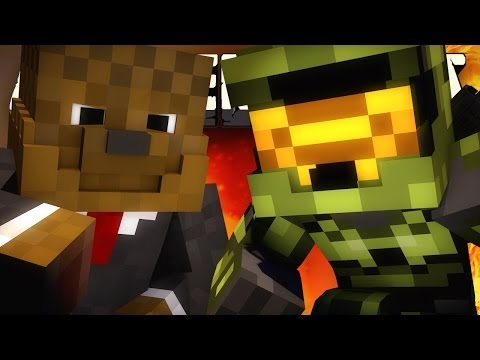 MASTER CHIEF VS BACCA Minecraft: EPIC HALO CRAFT with JEROMEASF