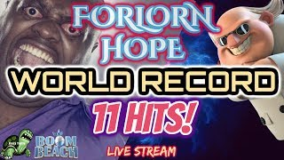 Boom Beach - FORLORN HOPE WORLD RECORD - 11 HITS! - Live Stream - Angry Turtles Reloaded Episode 23