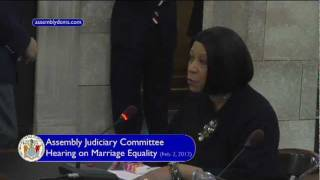 New Jersey Assembly Speaker Sheila Y. Oliver Testimony in Support of Marriage Equality (A-1)