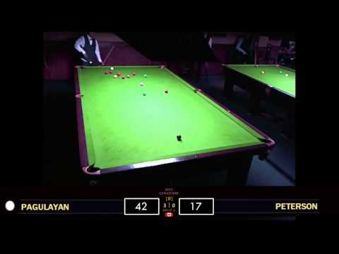 Alex Pagulayan vs. Robin Peterson - RR | 2012 Canadian Snooker Championships (pt.2)