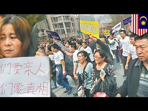 Malaysian Embassy In China Sees Protests By Flight Mh370 Relatives video
