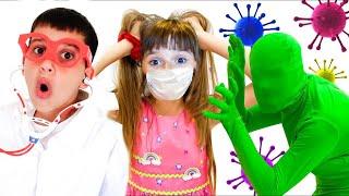 Настя и детские истории про вирусы.Правила поведения для детей