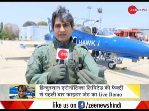 DNA test from sky high; Sudhir Chaudhary flies HAL's Hawk aircraft