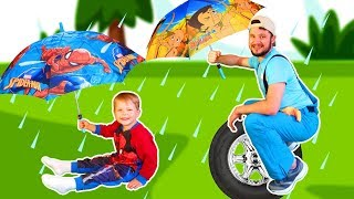 Rain Rain Go Away, Nursery Rhymes Song for Kids with Mirik Yarik Mama and Papa