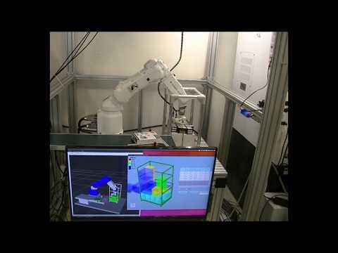 知能ロボットによるカゴ車への自動積付の画像