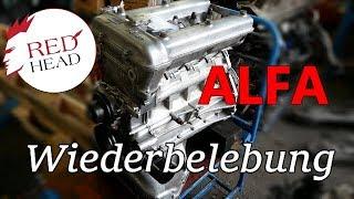 Alfa Romeo 2.0 Nord aus 105er Serie eines Bertone Coupe. Motorenaufbau eines Klassikers