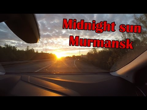 Murmansk city, Midnight sun (Polar day)