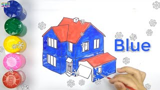 Skids color baby | Simple House Painting Page For Starter and Little Boys and Girls