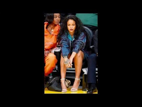 Rihanna Hot Sweet Sexy Feet & Thighs   Rihanna Sexy Legs