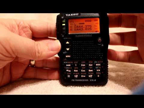 Yaesu VX-8DR AM/FM Radio Listening Tutorial