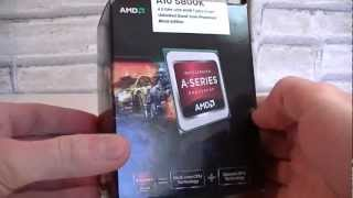 AMD A10-5800K Trinity APU Unboxing