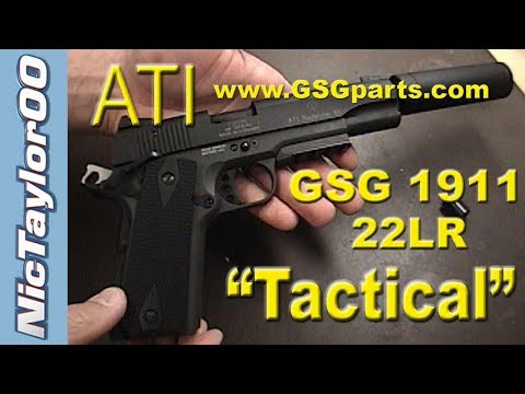 GSG / Sig Sauer 1911 22LR Tactical Pistol with Silencer (REVIEW)