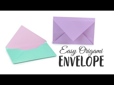 Оригами конверт с видео