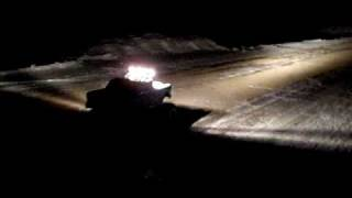 Home made RC car #22, DARK DRIVING, testing PIAA 004XT lights, 1955 chevy build